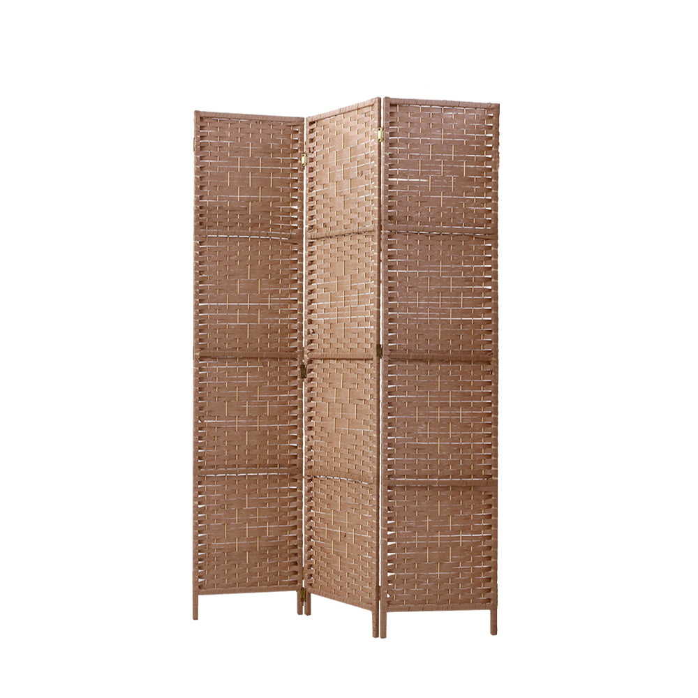 3 Panel Room Divider Screen Privacy Rattan Dividers Stand Fold Natural