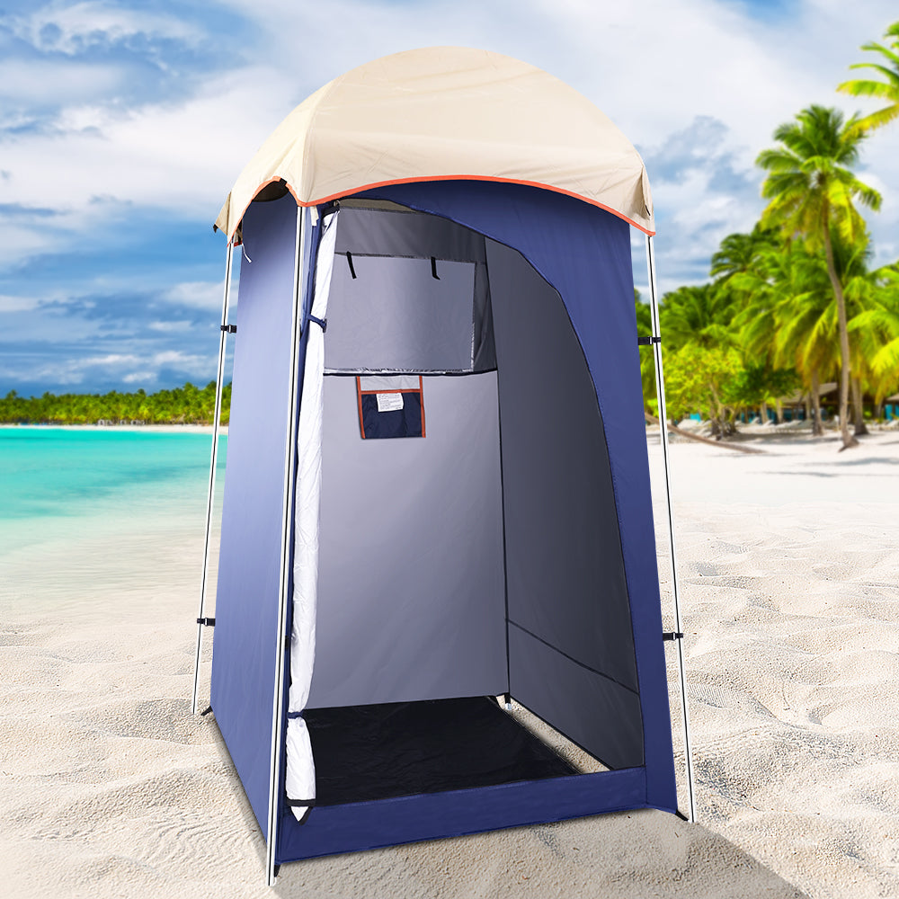 Weisshorn Camping Shower Tent Outdoor Portable Changing Room Toilet Ensuite Navy