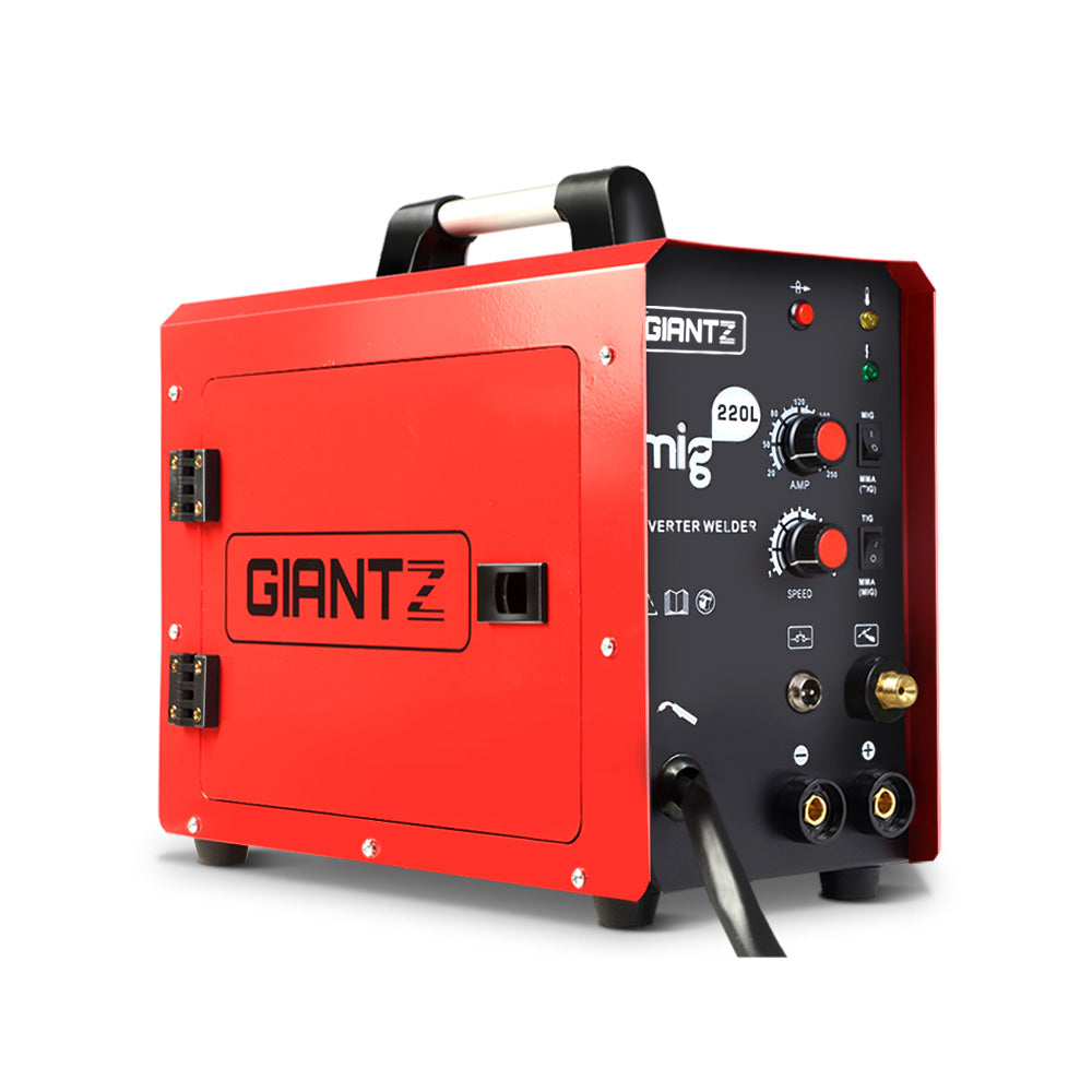Giantz 220 Amp Inverter Welder MMA MIG DC Gas Gasless Welding Machine Portable