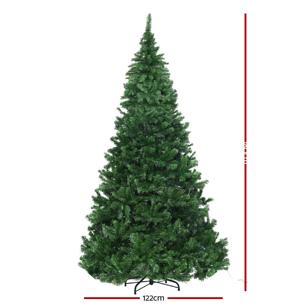 1.8M 6FT Christmas Tree Xmas 1980 LED Lights Warm White 765 Tips