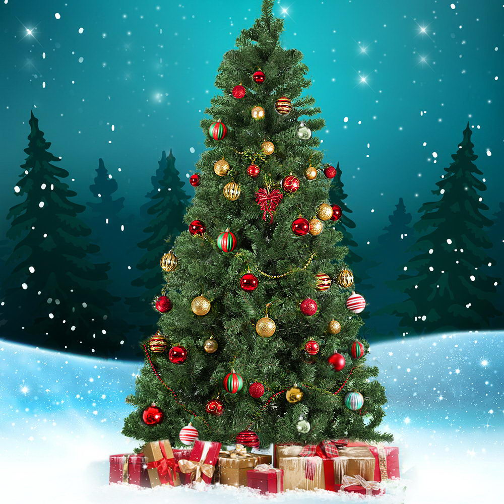 2.1M 7FT Christmas Tree Xmas Decoration Home Decor 700 Tips Green