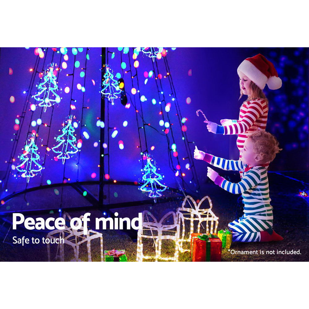 3.6M LED Christmas Tree Lights 400 LED Xmas Multi Colour Optic Fiber