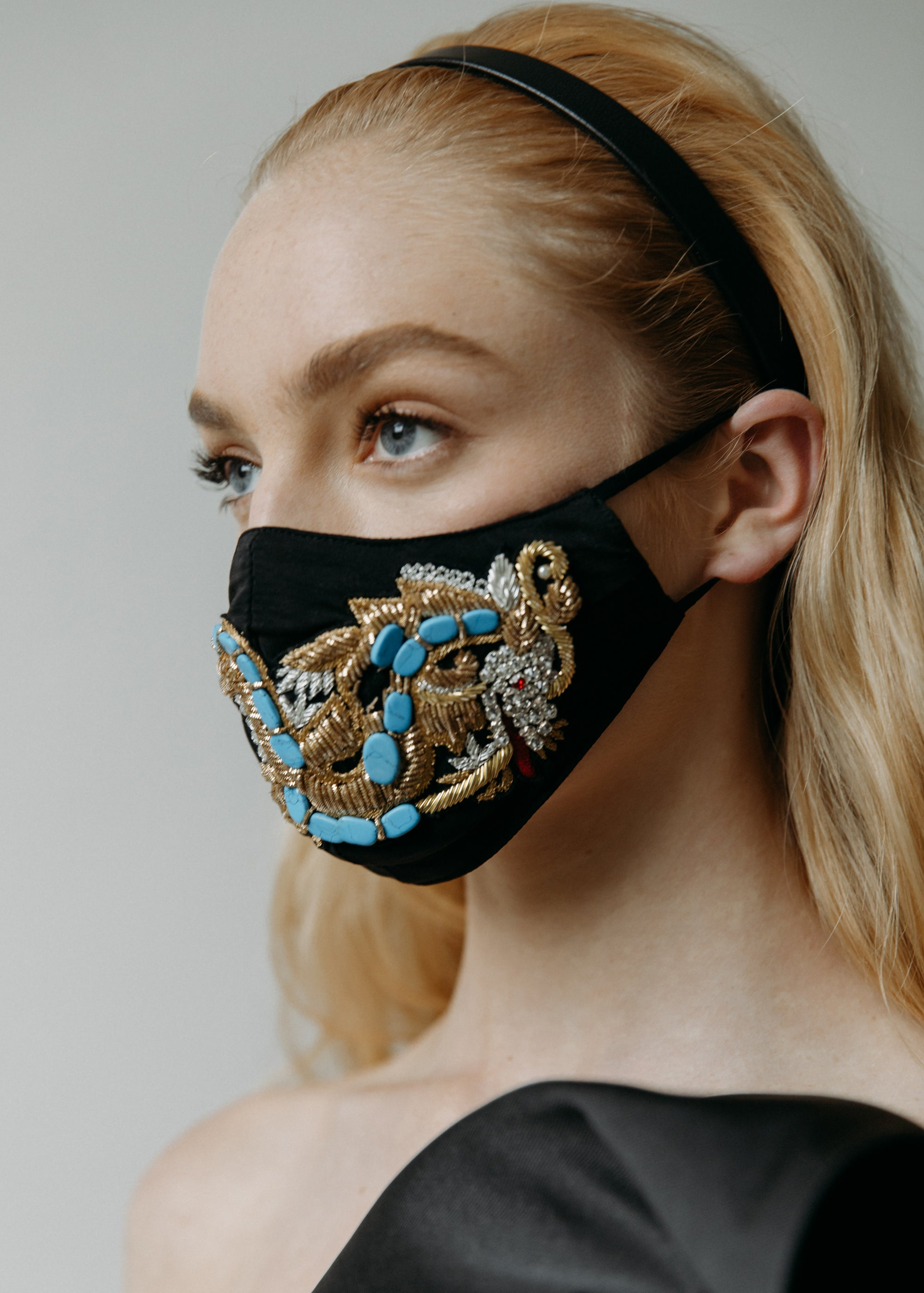 Embroidered Dragon Mask