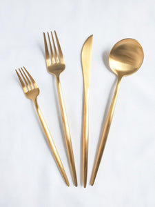 modern flatware modern utensil unique set fork spoon knife salad fork gold utensil flatware set
