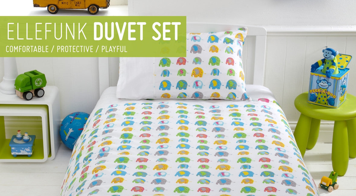 Elefunk Duvet Pillow Set