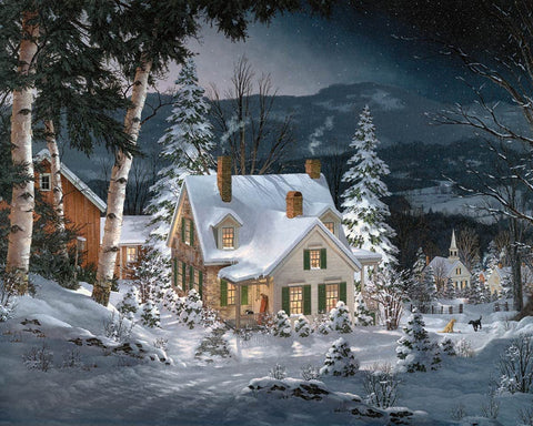 White Mountain JIGSAW PUZZLE FRIENDS IN WINTER 1000pc