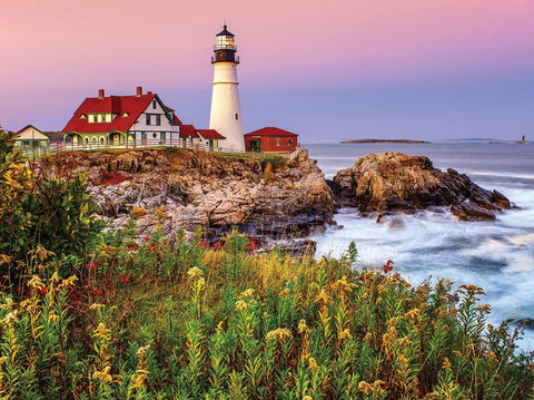 White Mountain Jigsaw Puzzle MAINE LIGHTHOUSE 1000pc