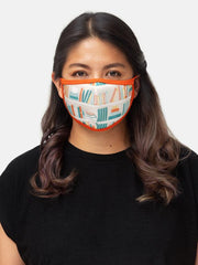 BOOKSHELVES FACE MASK ADULT