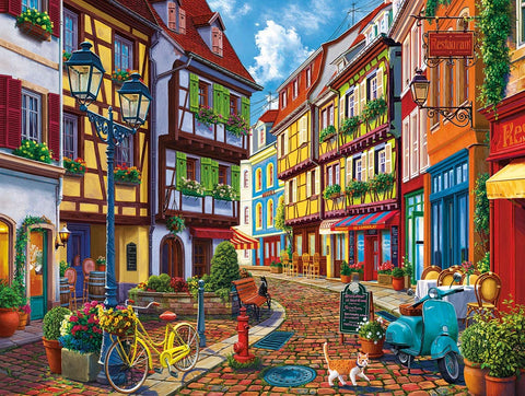 White Mountain Jigsaw Puzzle OLD WORLD STREET 550pc
