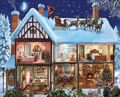 White Mountain JIGSAW PUZZLE CHRISTMAS HOUSE 1000pc