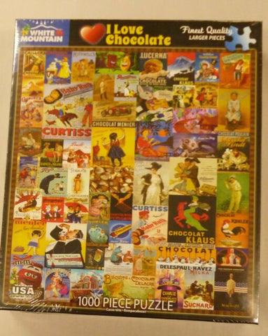 White Mountain Jigsaw Puzzle I Love Chocolate