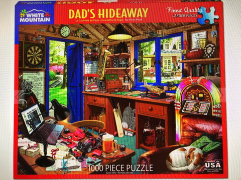 White Mountain Jigsaw Puzzle Dad's Hideaway 1000pc