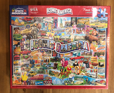White Mountain Jigsaw Puzzle Iconic America 1000 pc