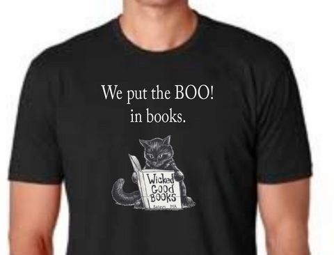 Boo in Bookstore T-shirt