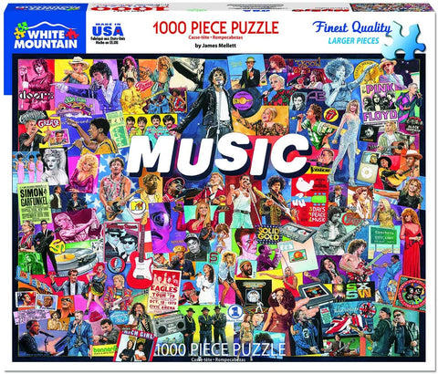 White Mountain Jigsaw Puzzle Music 1000pc