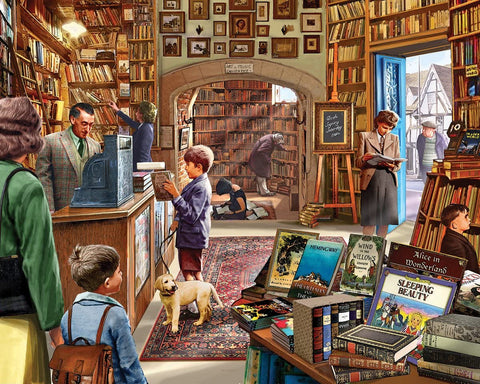 White Mountain Jigsaw Puzzle Old Bookstore 1000pc