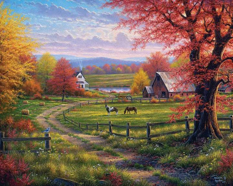 White Mountain Puzzles Peace and Tranquility 1000 Pieces