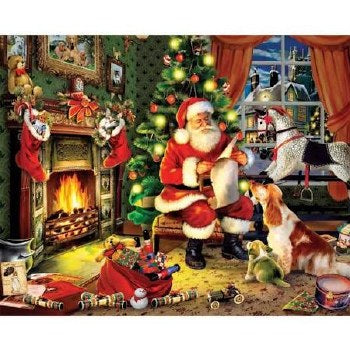 White Mountain Puzzles SANTAS LIST 300 Pc Christmas Puzzle