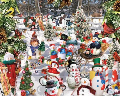 White Mountain Puzzles Snowmen 1000 Pieces