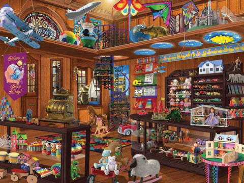 White Mountain Jigsaw Puzzle Toy Shop Seek & Find 1000pc