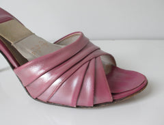 Vintage 50's 60's Pearl Purple Springolator Heels Shoes 8 N - Bombshell Bettys Vintage