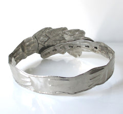 Vintage Silver Leaves Metal Belt - Bombshell Bettys Vintage