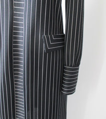 vintage 60's 70's mod gothic black white Addams stripe mod Herman Marcus shift tea dress right