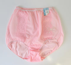 Vintage 50's Pink Sheer Lace Bloomer Panty Panties 36 NWT - Bombshell Bettys Vintage
