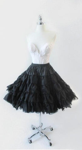 Black Organdy Full Crinoline Petticoat Sheer Slip Skirt One Size S / M / L