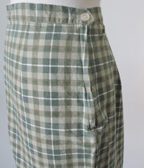 Vintage 50's Green Plaid Shorts M - Bombshell Bettys Vintage