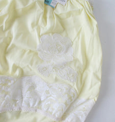 Vintage 50's Sunny Yellow White Lace Bloomer Panty 36 NWT - Bombshell Bettys Vintage