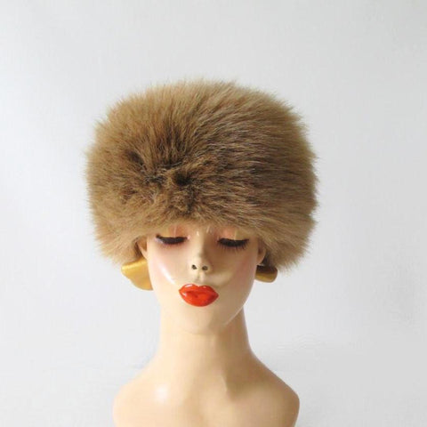 Vintage 70's / 80's Faux Fur Cossack Hat