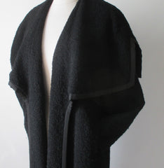 Vintage 50's Don Loper Big Shawl Collar Wool Coat M / L - Bombshell Bettys Vintage