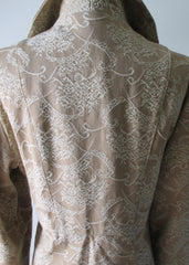 60's damask brocade gold evening special occasion formal princess cut vintage wedding jacket coat shoulders