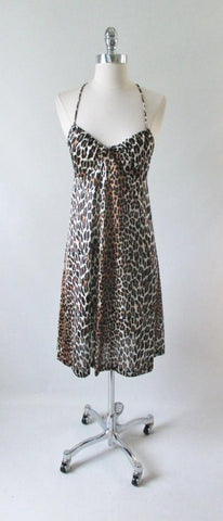 Vintage 60's Vanity Fair Leopard Print Nighty Night Gown 32