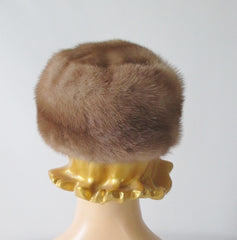 Vintage 50's Honey Blonde Mink Chapeaux Pillbox Hat - Bombshell Bettys Vintage