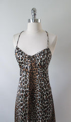 Vintage 60's Vanity Fair Leopard Print Nighty Night Gown 32 - Bombshell Bettys Vintage