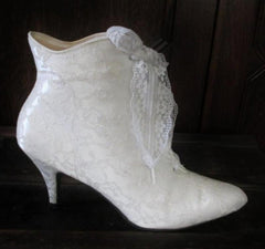 vintage victorian white lace granny wedding boots gallery