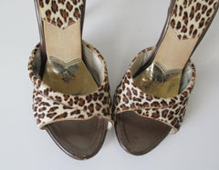 Vintage 50's 60's Fredericks OF Hollywood Ultra High Leopard Springolators 7 - Bombshell Bettys Vintage