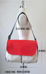 60's mod colorblock red white blue bag size chart