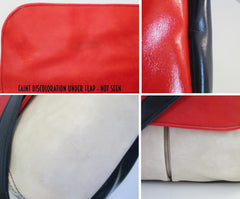 60's mod colorblock red white blue bag details 3