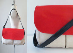 60's mod colorblock red white blue bag gallery