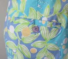 Sweet Blue Crabby Lilly Pulitzer Bermuda Shorts 14 L - Bombshell Bettys Vintage