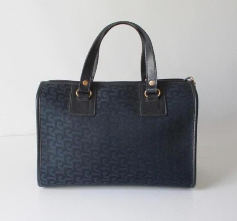 8e5f3fded971 vintage 70 s 80 s navy blue Pierre Cardin monogram logo purse handbag  speedy doctors bag