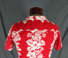 Vintage RJC Red Classic Hibiscus Print Hawaiian Shirt 47 - Bombshell Bettys Vintage