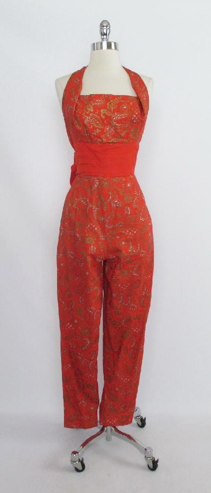 Vintage 50's 60's RARE Vintage Alfred Shaheen Jumpsuit M - Bombshell Bettys Vintage