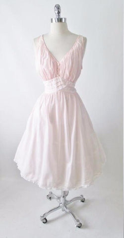 Vintage 50's Pink Full Skirt Night Gown Nighty Dress L