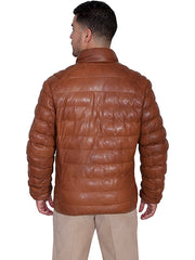 New Scully Ribbed Cognac Colored Rugged Lambskin Leather Riding Jacket - Bombshell Bettys Vintage