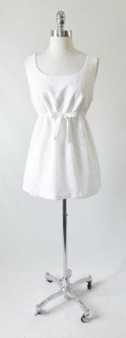 Vintage 60's 70's White Eyelet Maternity Playsuit Swimsuit 2 Piece Top Bloomer Set
