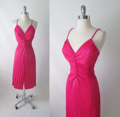 Vintage Fredericks Of Hollywood Travilla Inspired Marilyn Style Evening Dress Gown M